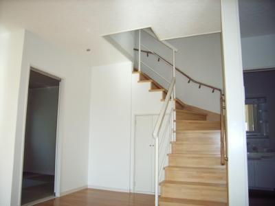 いざ2階へ