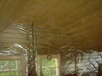 天井完了・壁板張り