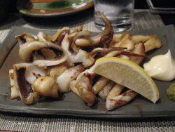 イカの柚子胡椒焼き