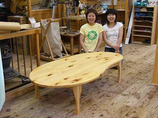 ナッツ型テーブル