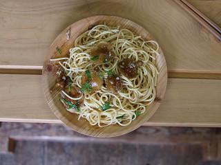ナメコスパゲティー