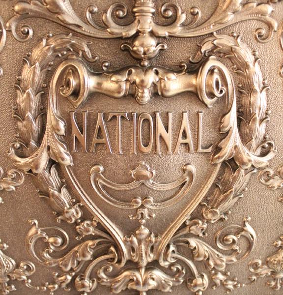 アンティークのナショナルレジスター 背面のロゴ