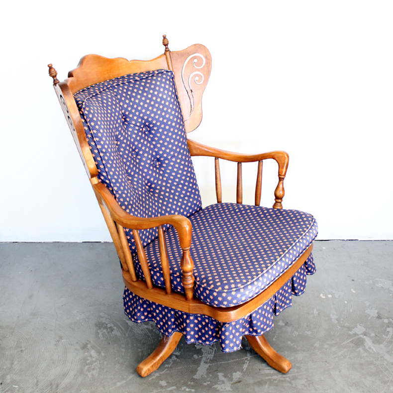 vintage rockng chair made in U.S.A オリジナルファブリック