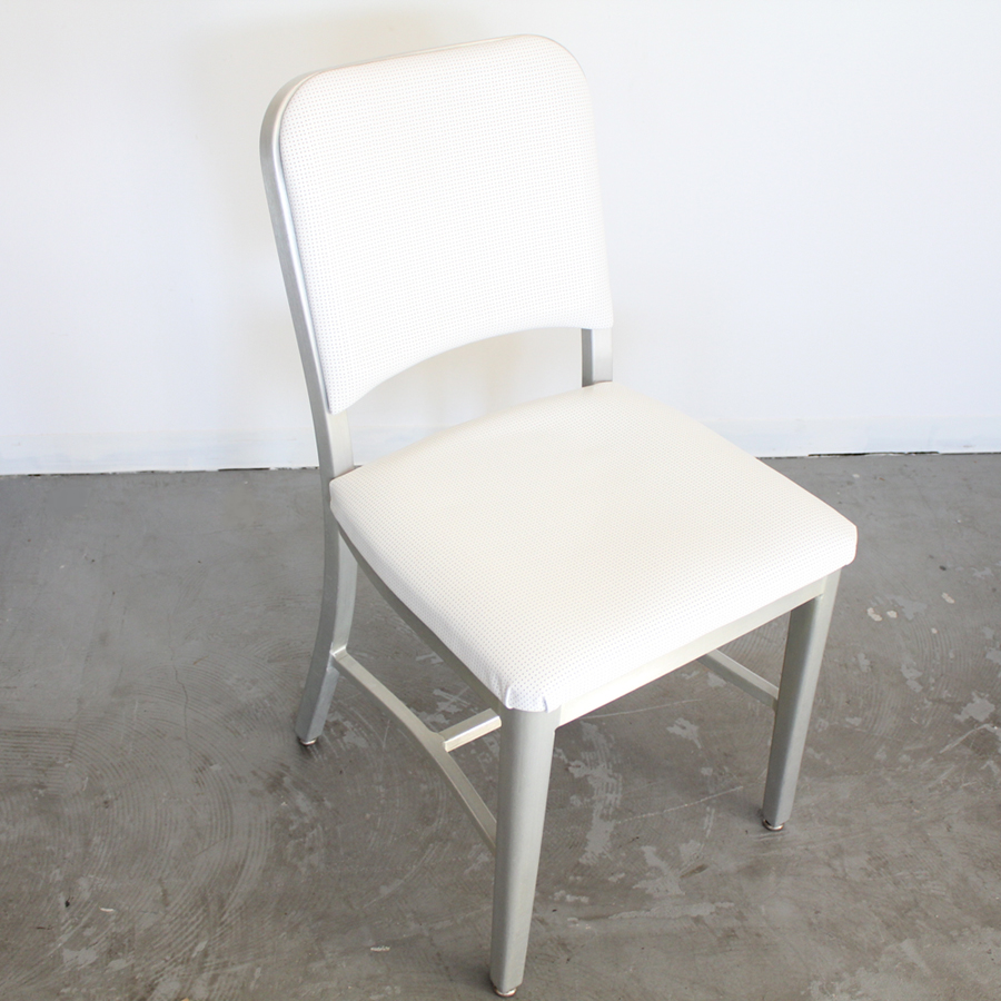 EMECO CHAIR AMERICAN VINTAGE  WHITE LEATHER