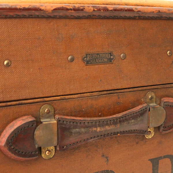 REID&TODD GLASGOW ANTIQUE TRUNK made in England ベルト