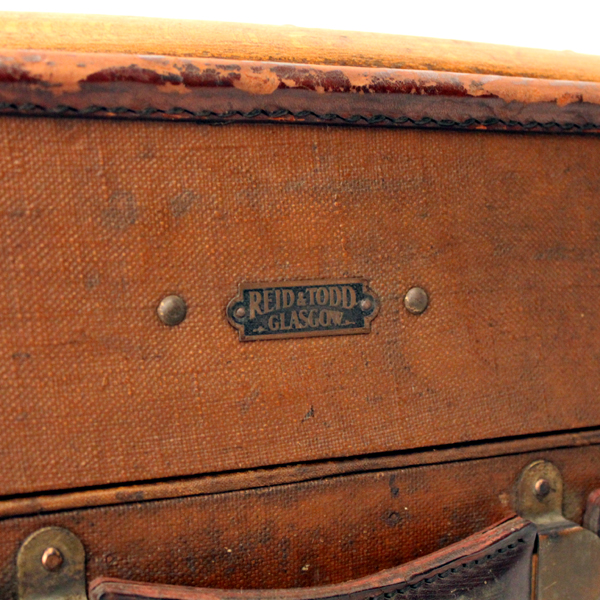 REID&TODD GLASGOW ANTIQUE TRUNK made in England プレート