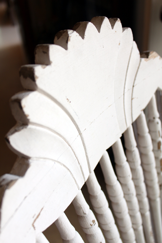 antique rocking chair シャビー背もたれ上