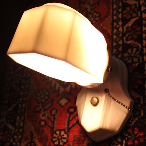 アンティーク琺瑯ランプ