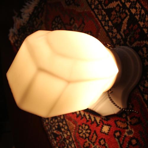 アンティークミルクガラスシェード