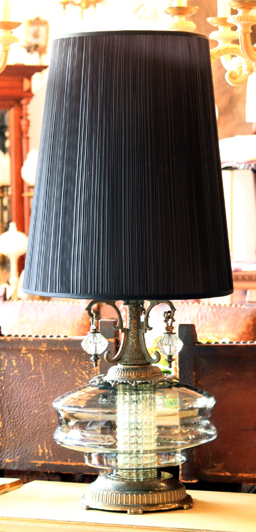 Big table lamp black shade mate antiqueinteriors news mozeypictures Image collections