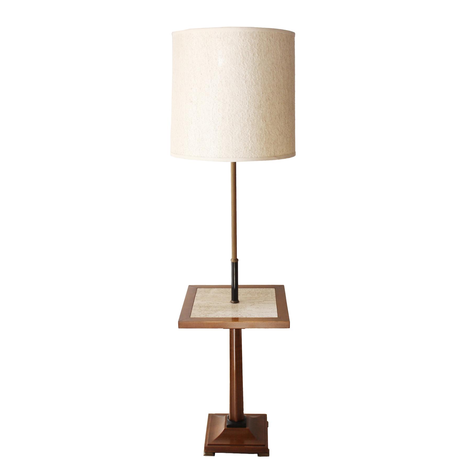 大理石のテーブル付き照明