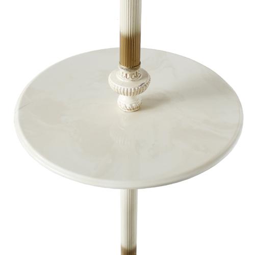 人造大理石のテーブル付きランプ