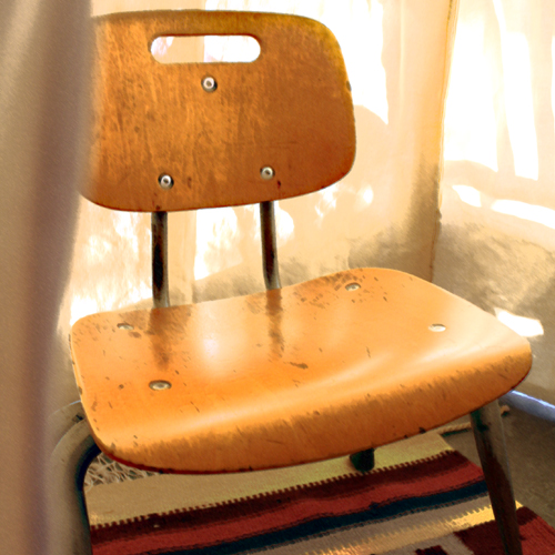 vintage school chair for kids