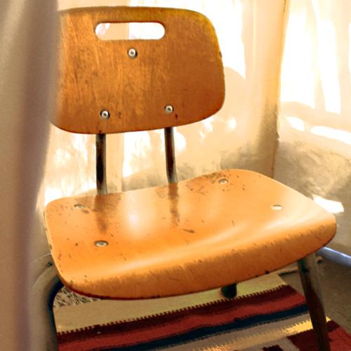 vintage school chair for kids