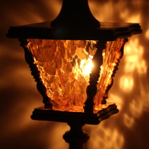 ガラスの中も点灯するビンテージライト