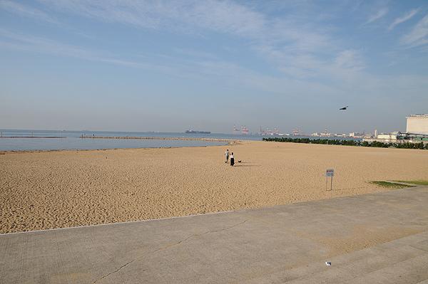 今朝のビーチ