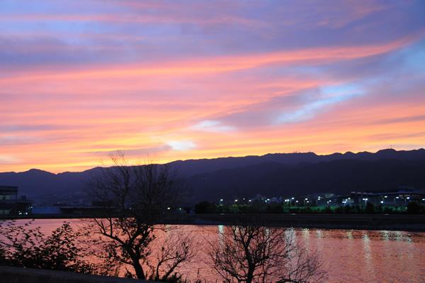 夕焼け 六甲山1