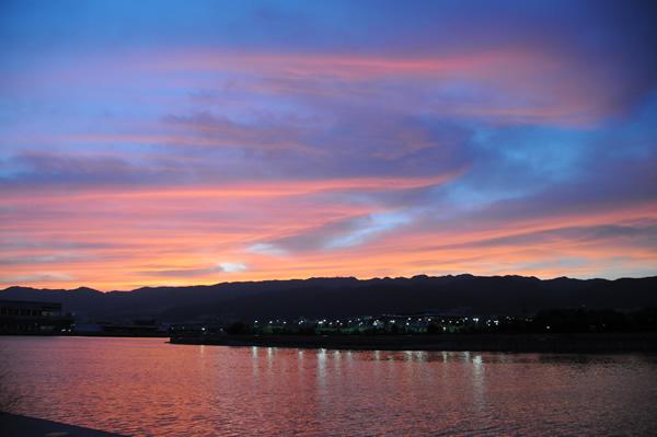 夕焼け 六甲山2