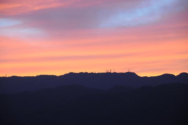 夕焼け 六甲山3
