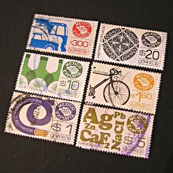 メキシコ貿易の切手6枚セット