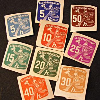 チェコスロヴァキア郵便配達の切手