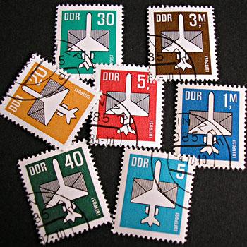 航空郵便の切手