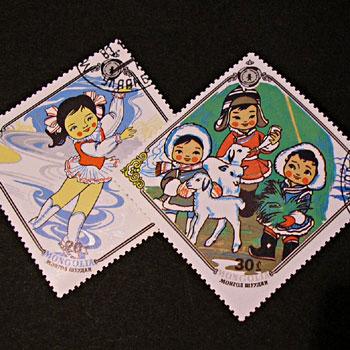 モンゴルの切手その1