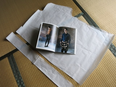 サイドドレープミニスカート 型紙
