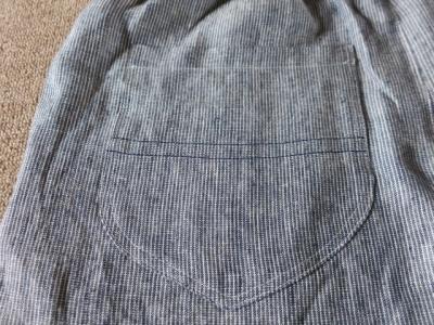 父のイージーパンツ ポケット
