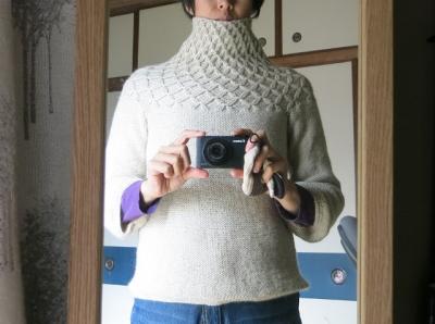 スモッキングするセーター 直し前