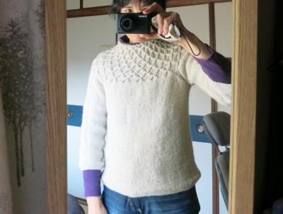 スモッキングするセーター 直し後