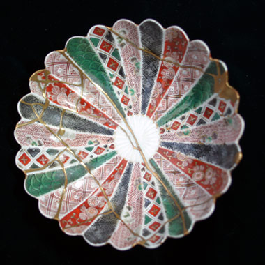[金継ぎ] 古伊万里色絵皿