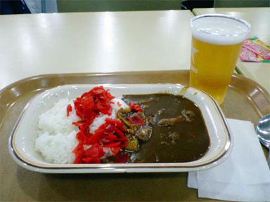 札幌国際スキー場 カレー ビール