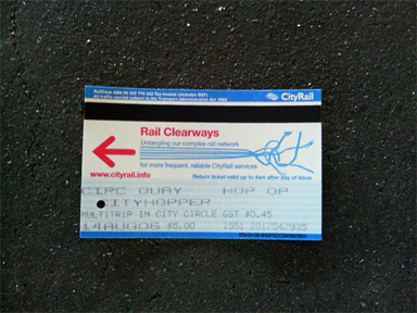 シドニー 電車 一日券