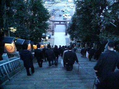 初詣 愛宕神社 出世の階段