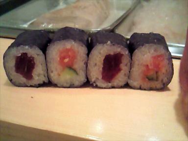築地 寿司大 すしだい 鉄火巻き メンタイかっぱ巻き