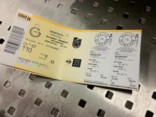 トルコ イスタンブール サッカー観戦 ガラタサライ チケット