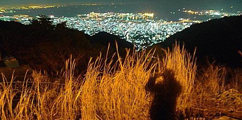 神戸六甲山の夜景
