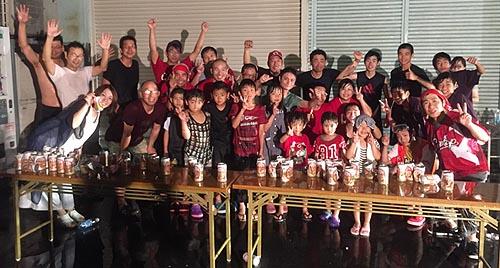 広島カ−プ優勝ビ−ルかけ