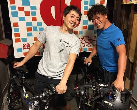 大阪から自転車で来たお客様