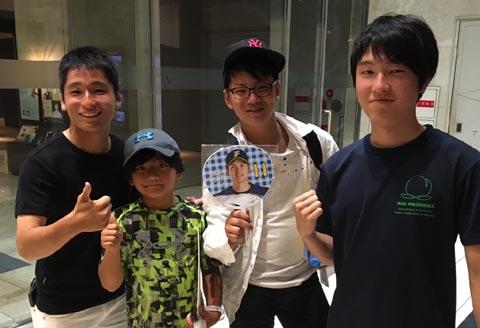 常連客の子供らと大阪で合流