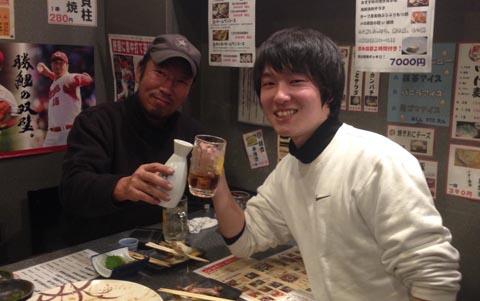 長男との親子酒