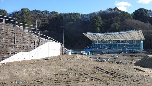 釜石市のラグビー場建設