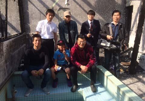 OHK岡山放送局の取材