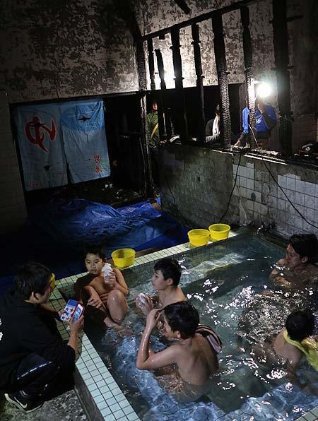清心温泉最後の入浴