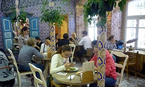 ロシアモスクワのレストラン