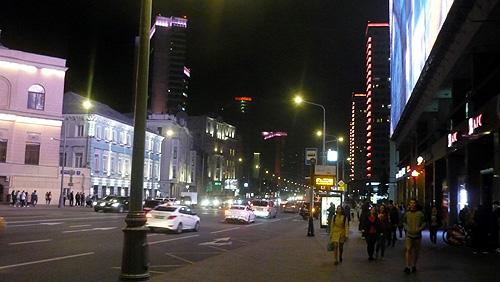 ロシアモスクワの夜