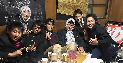 関西高校ラグビー部宴会