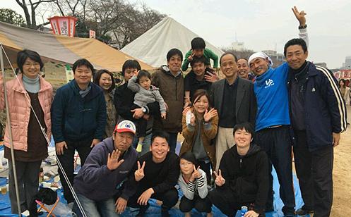 清心温泉花見会と岡山市長