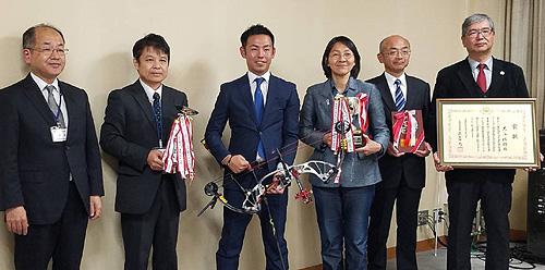 大江選手の市長表敬訪問
